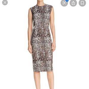 DKNY Donna Karan Leopard Print Sheath Dress